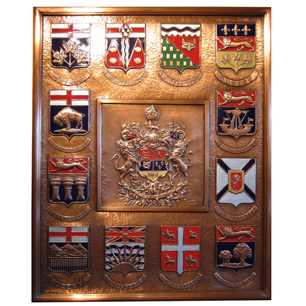 Crests of provincial provinces and Canada ( Crests of Canada